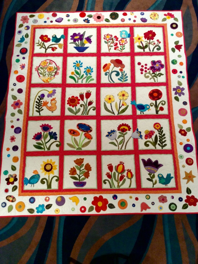 Judy's Wool Applique Quilt